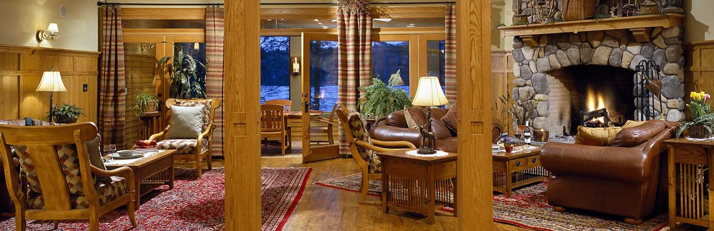 hotels with a fireplace in room. luxury Adirondack lodging Lakefront Hotels In The Adirondacks  Impeccable Lodging