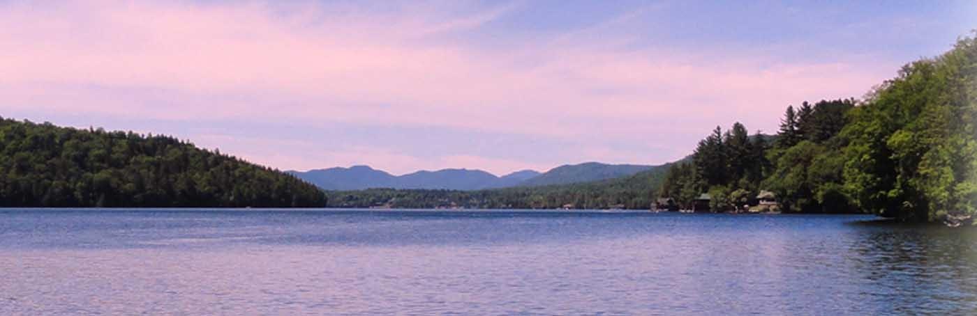 beautiful sunets at Fern Lodge Adirondack getaways