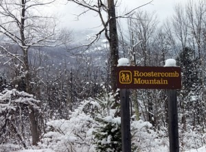Roostercomb Mountain trail sign