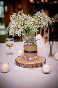 Adirondack wedding centerpeice