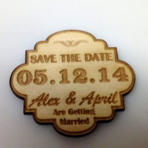 real wood adirondack wedding save the date