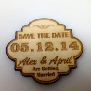 real wood adirondack wedding save the date