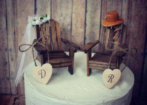 adirondack themed wedding toppers