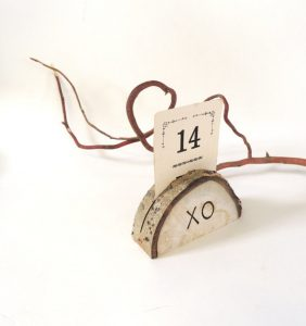 adirondack wedding name card holder