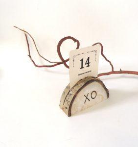 adirondack wedding name card holder